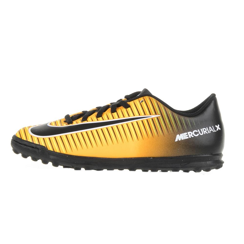 NIKE – Αγορίστικα παπούτσια ποδοσφαίρου JR MERCURIALX VORTEX III TF πορτοκαλί-μαύρα