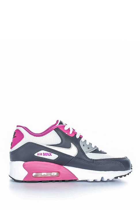 NIKE. Παιδικά αθλητικά παπούτσια NIKE AIR MAX 90 MESH (PS) λευκά-γκρι f63cfa134cb