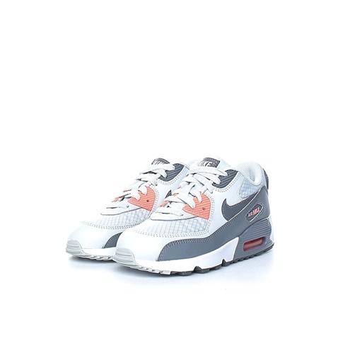 NIKE. Κοριτσίστικα αθλητικά παπούτσια NIKE AIR MAX 90 MESH (PS) γκρι-λευκά 3ff6d16145d