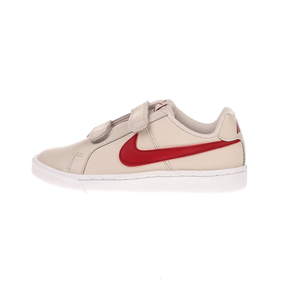 NIKE – Παιδικά αθλητικά παπούτσια NIKE COURT ROYALE (PSV) εκρού κόκκινα