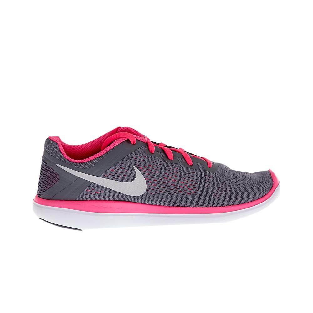 NIKE – Παιδικά αθλητικά παπούτσια NIKE FLEX 2016 RN γκρι-φούξια
