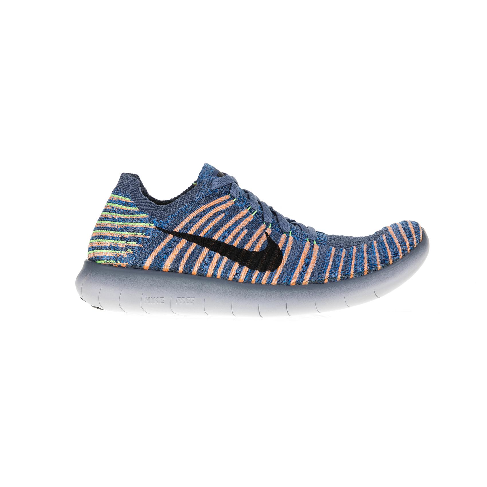 NIKE – Παιδικά αθλητικά παπούτσια Nike FREE RN FLYKNIT (GS) γκρι – πορτοκαλί