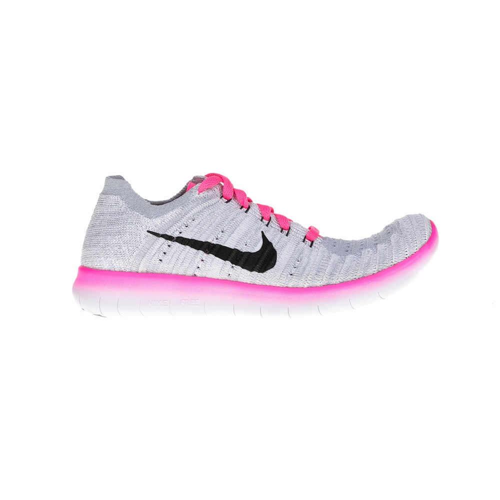 283ee700214 NIKE – Παιδικά παπούτσια NIKE FREE RN FLYKNIT γκρι-ροζ. Factoryoutlet