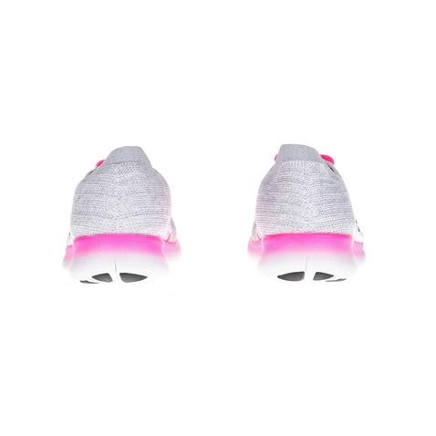 NIKE-Παιδικά παπούτσια NIKE FREE RN FLYKNIT γκρι-ροζ