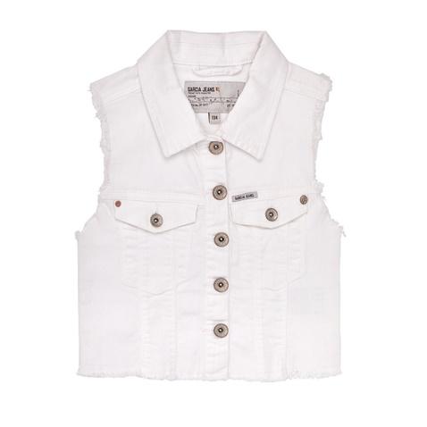 2f1b8dff0a4 Παιδικό τζιν γιλέκο με ξέφτια Garcia Jeans λευκό (1458781.0-0092) | Factory  Outlet