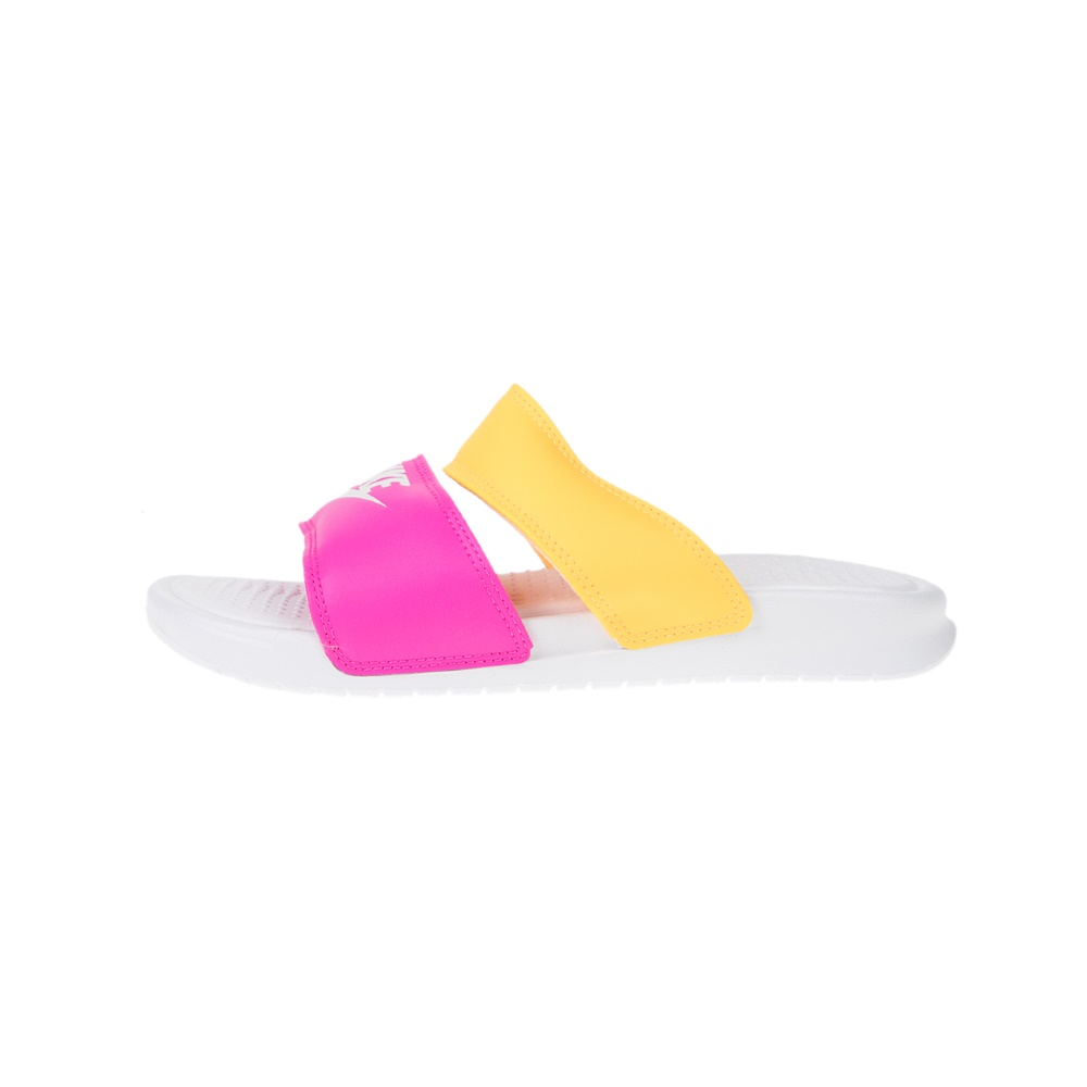 NIKE – Γυναικεία slides NIKE BENASSI DUO ULTRA SLIDE ροζ-κίτρινες
