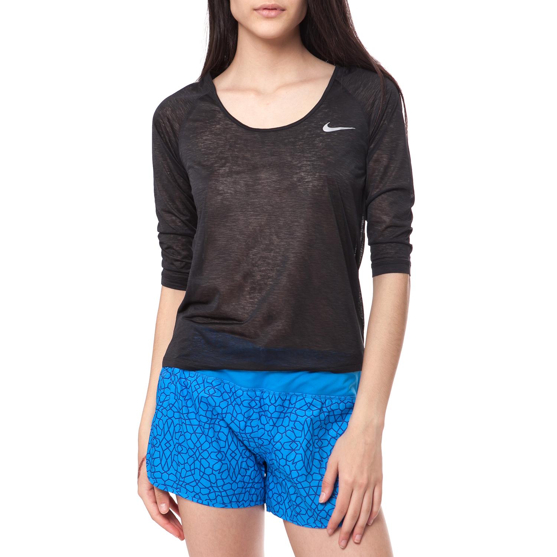 NIKE - Γυναικεία μπλούζα ΝΙΚΕ μαύρη γυναικεία ρούχα αθλητικά φούτερ μακρυμάνικα