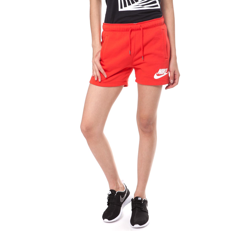 NIKE - Γυναικείο σορτς NIKE κόκκινο γυναικεία ρούχα σορτς βερμούδες αθλητικά