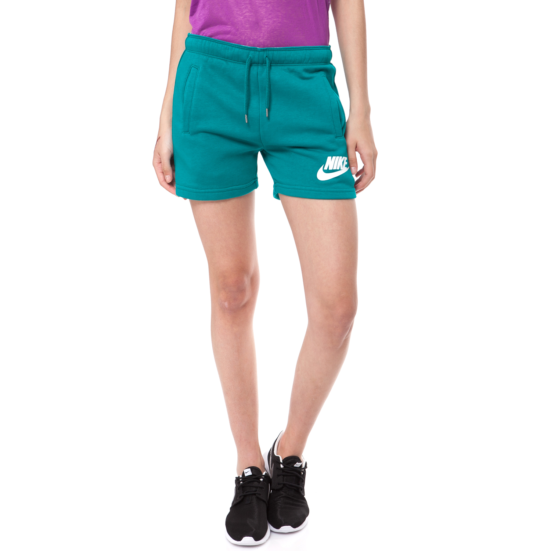 NIKE - Γυναικείο σορτς NIKE πράσινο γυναικεία ρούχα σορτς βερμούδες αθλητικά