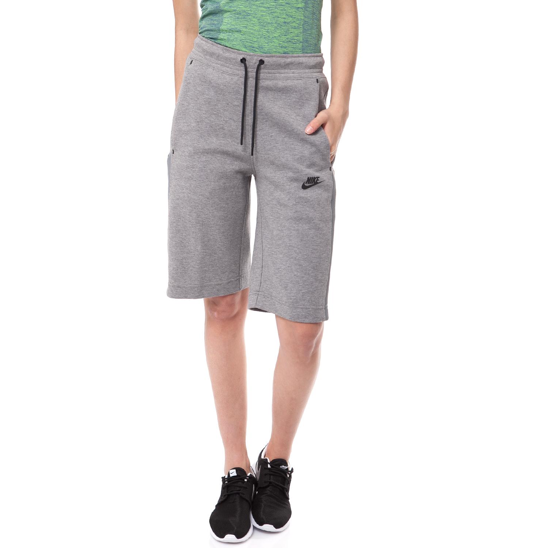 NIKE - Γυναικεία βερμούδα NIKE γκρι γυναικεία ρούχα σορτς βερμούδες αθλητικά