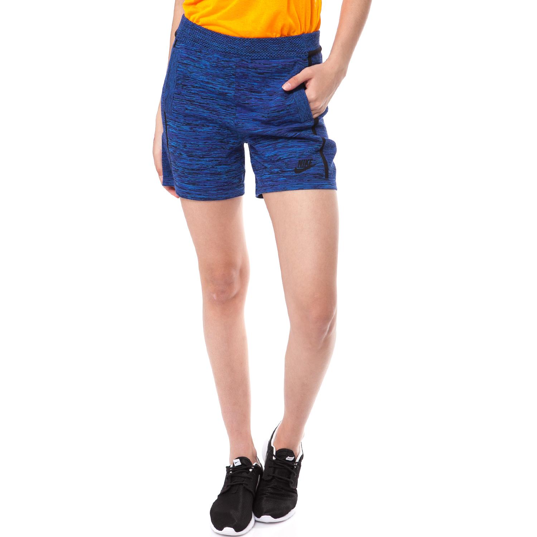NIKE - Γυναικείο σορτς ΝIKE μπλε γυναικεία ρούχα σορτς βερμούδες αθλητικά