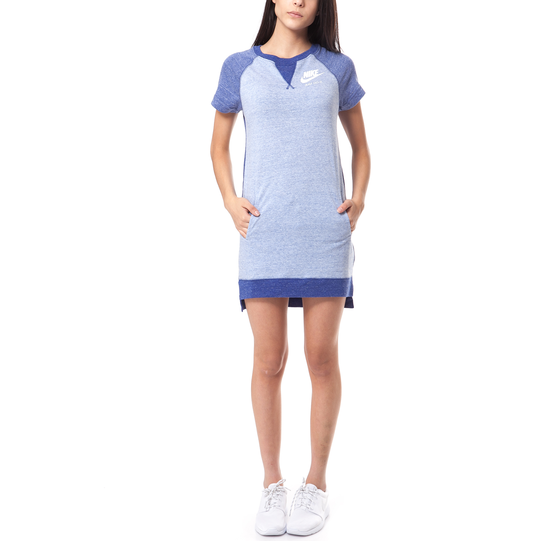 NIKE - Γυναικείο φόρεμα Nike μπλε γυναικεία ρούχα φορέματα μίνι
