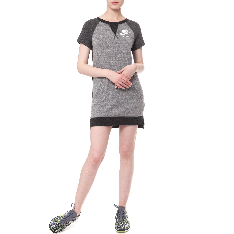 NIKE - Γυναικείο φόρεμα NIKE GYM VINTAGE γκρι γυναικεία ρούχα φορέματα μίνι