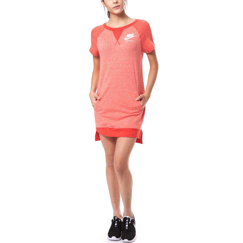 NIKE - Γυναικείο φόρεμα Nike πορτοκαλί γυναικεία ρούχα φορέματα μίνι