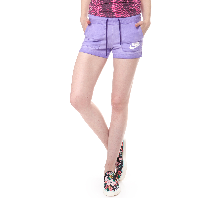 NIKE - Γυναικείο σορτσάκι NIKE SHORT-WASH μωβ γυναικεία ρούχα σορτς βερμούδες αθλητικά