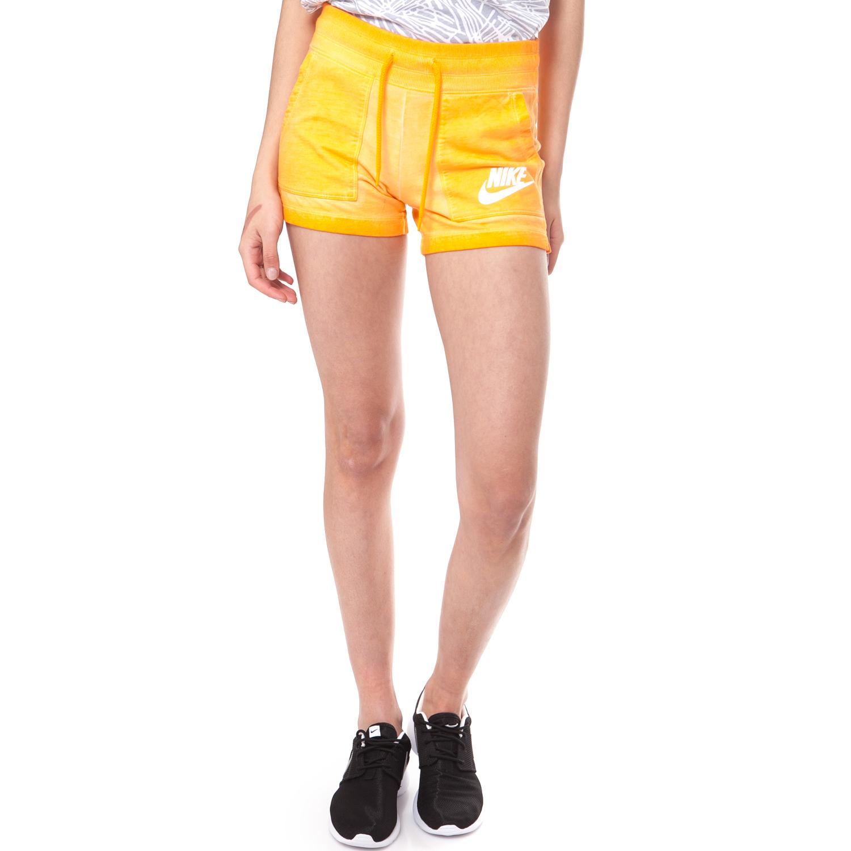 NIKE - Γυναικείο σορτσάκι NIKE SHORT-WASH κίτρινο γυναικεία ρούχα σορτς βερμούδες αθλητικά