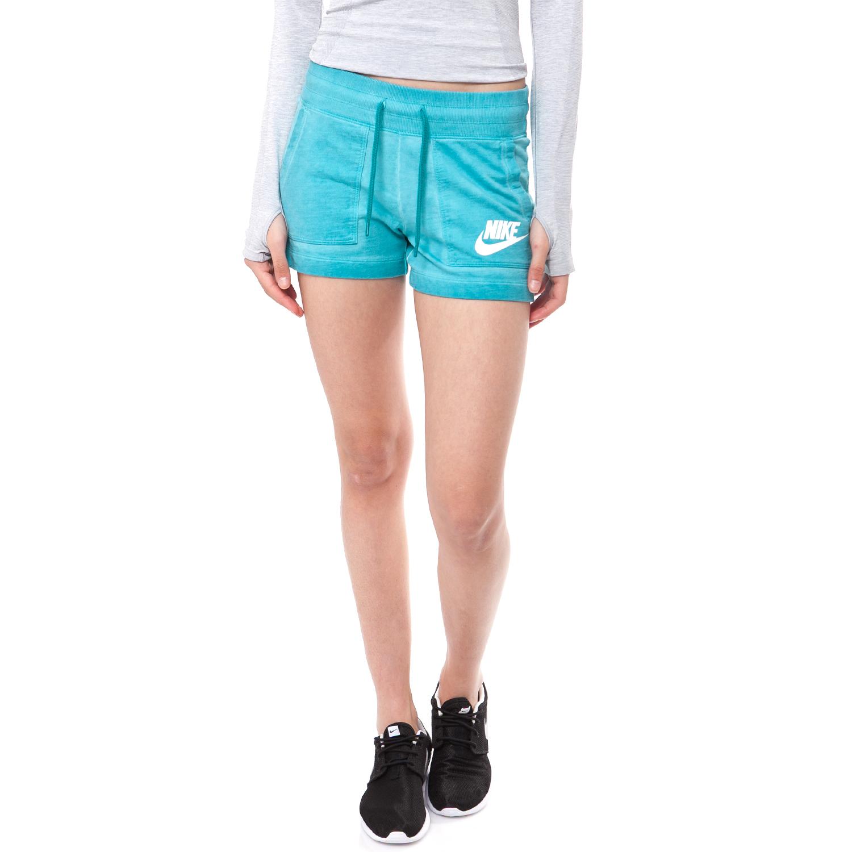 NIKE - Γυναικείο σορτς NIKE μπλε γυναικεία ρούχα σορτς βερμούδες αθλητικά