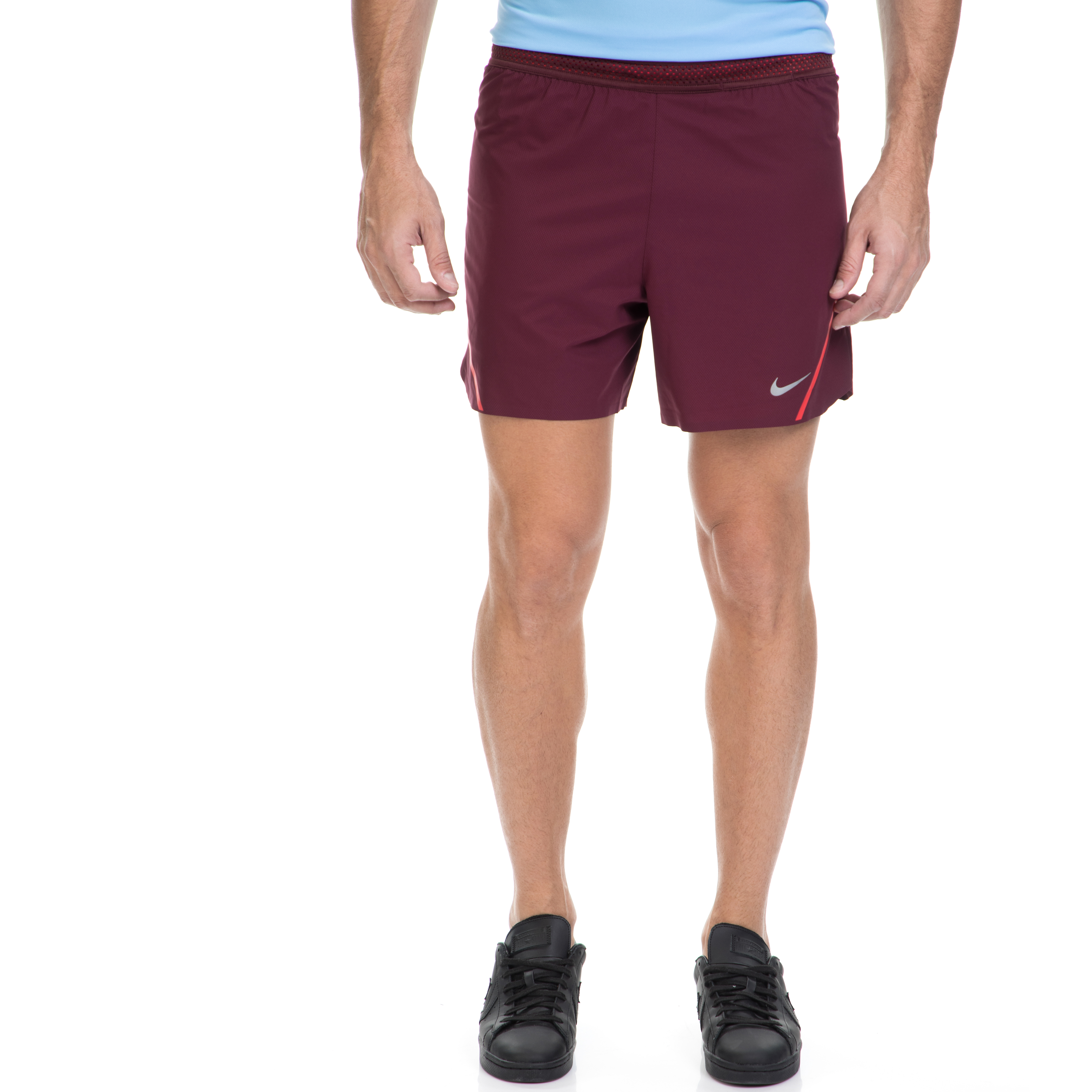 NIKE - Ανδρικό αθλητικό σορτς ΝΙΚΕ AEROSWIFT SHORT 5IN μπορντό ανδρικά ρούχα σορτς βερμούδες αθλητικά