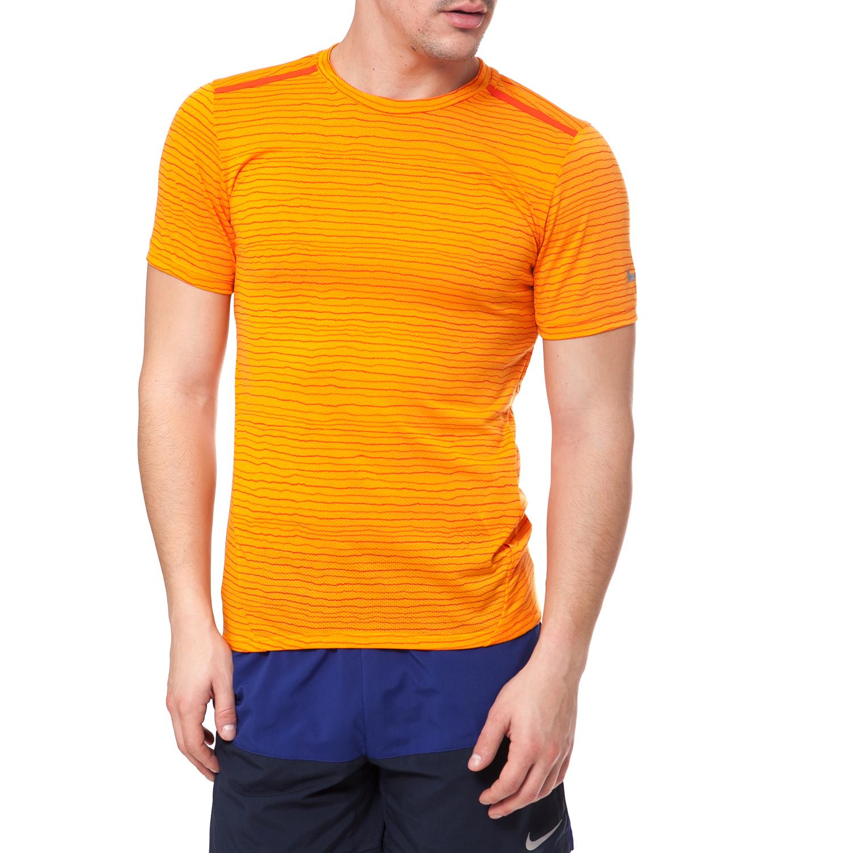 NIKE - Αντρική μπλούζα NIKE πορτοκαλί ανδρικά ρούχα αθλητικά t shirt