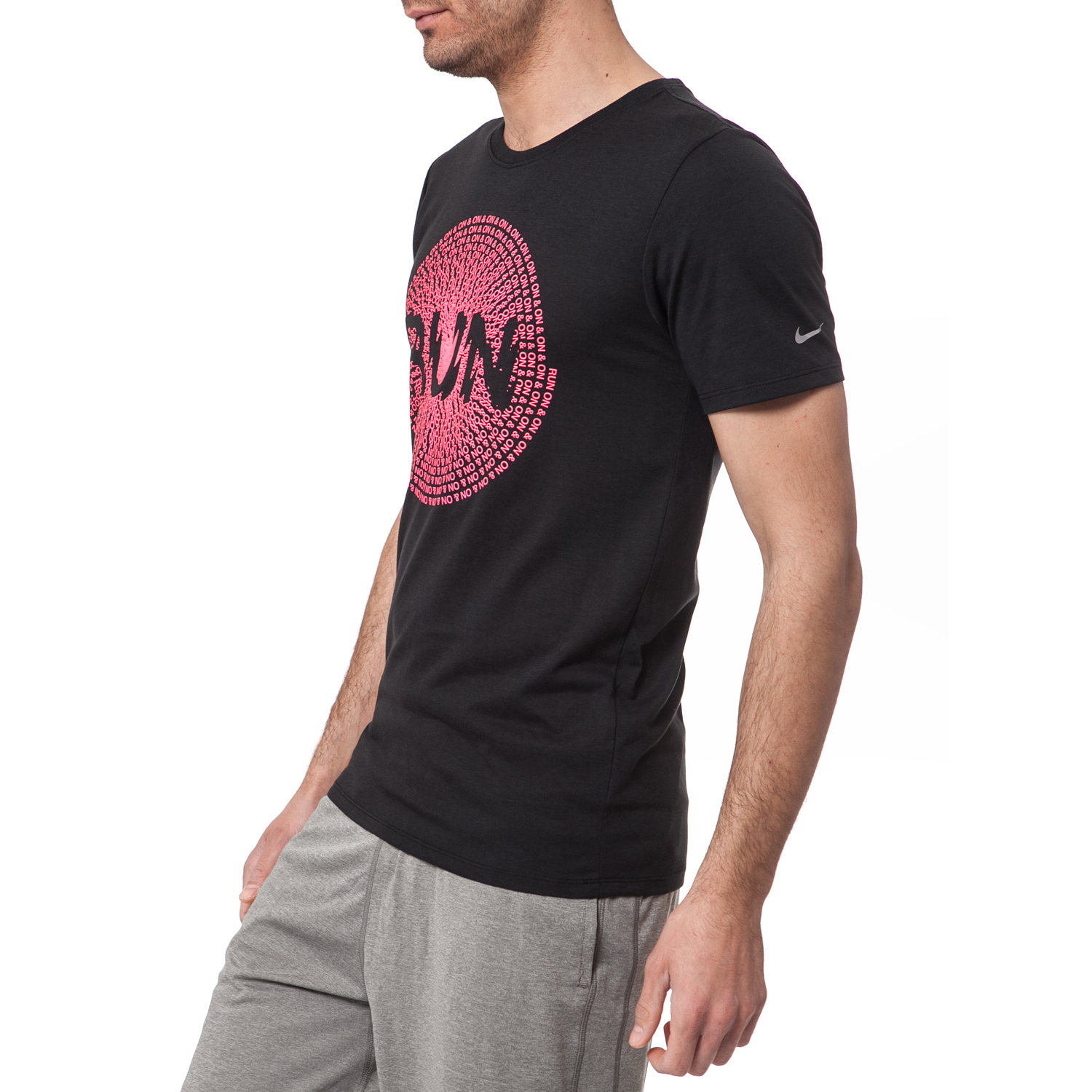 abac18d2904a NIKE - Ανδρικό t-shirt Nike RUN ON AND ON μαύρο