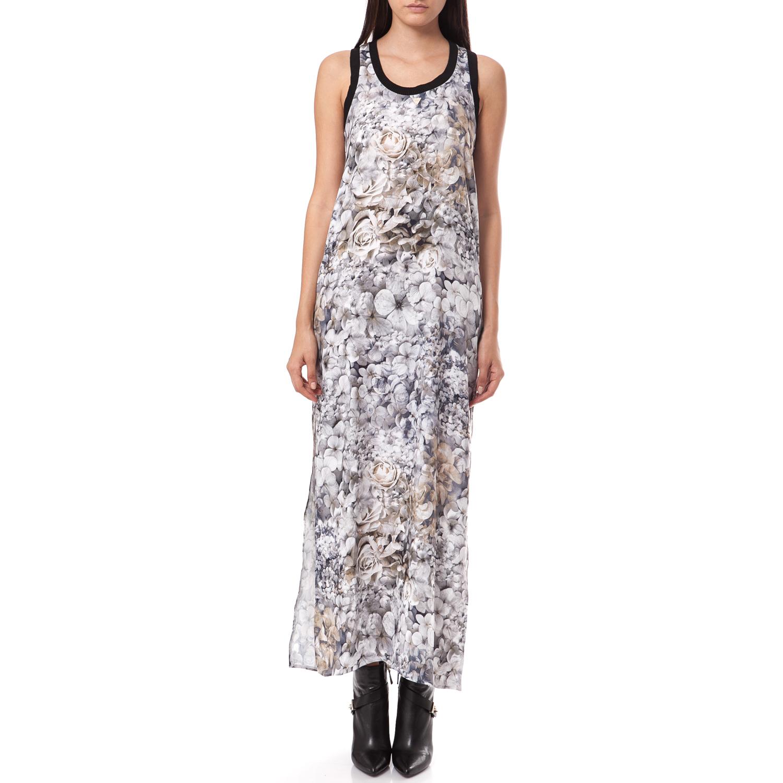 GUESS - Γυναικείο φόρεμα Guess μαύρο-λευκό γυναικεία ρούχα φορέματα μάξι