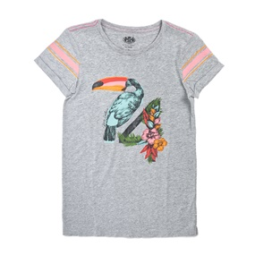 JUICY COUTURE KIDS. Βαμβακερό φόρεμα JUICY COUTURE TOUCAN GRAPHIC γκρι ef3673df0cf