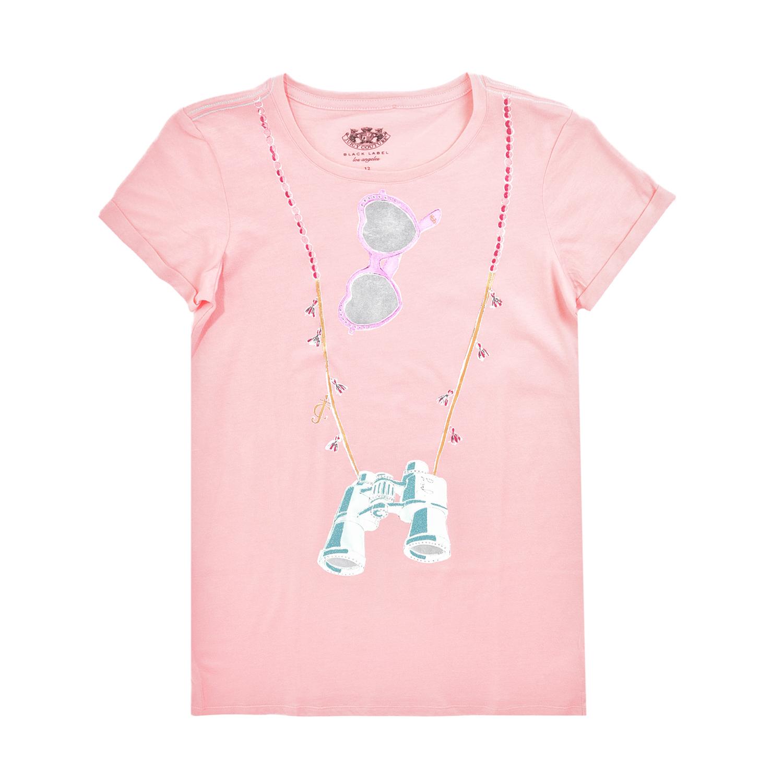 JUICY COUTURE KIDS – Βαμβακερό φόρεμα JUICY COUTURE EXPLORER GRAPHIC ροζ