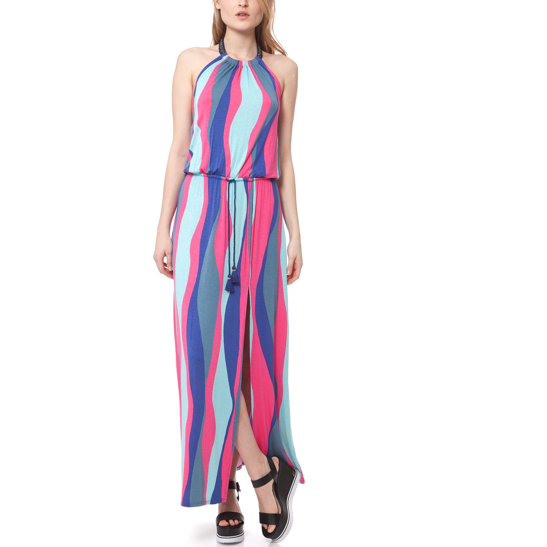 JUICY COUTURE - Γυναικείο φόρεμα Juicy Couture μπλε-ροζ γυναικεία ρούχα φορέματα μάξι