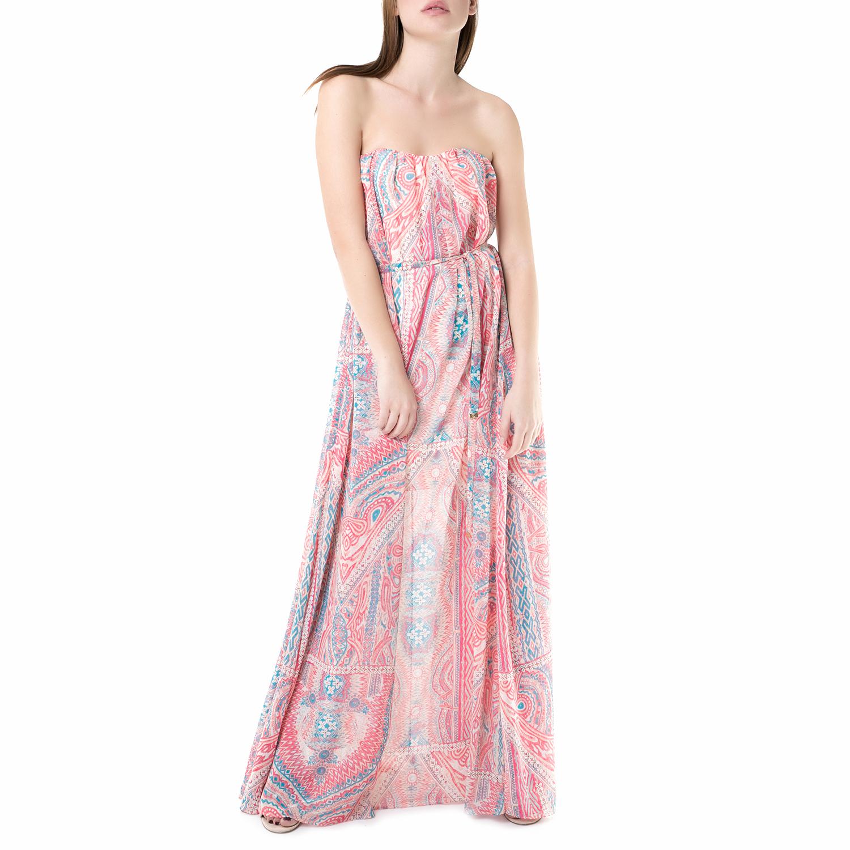JUICY COUTURE - Μάξι strapless φόρεμα break water Juicy Couture ροζ γυναικεία ρούχα φορέματα μάξι