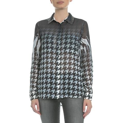GUESS-Γυναικείο πουκάμισο Guess Louis ασπρόμαυρο