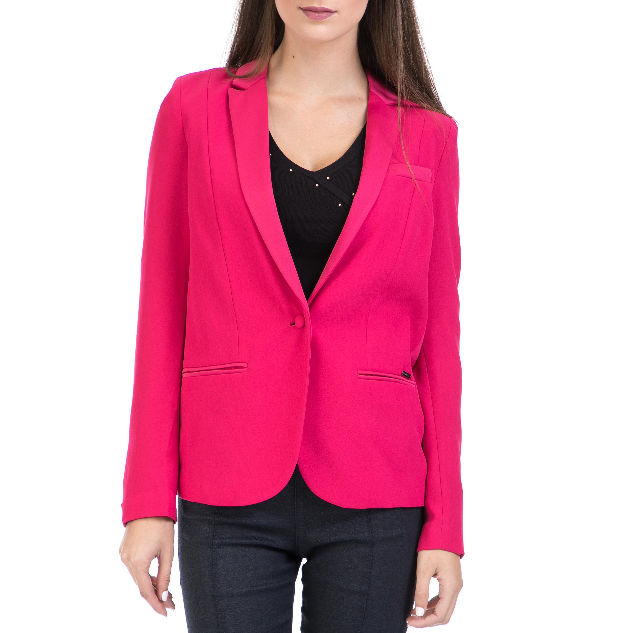 GUESS - Γυναικείο σακάκι GUESS ροζ γυναικεία ρούχα πανωφόρια σακάκια
