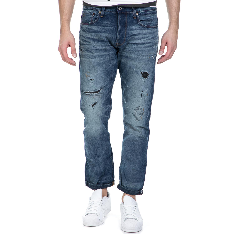 G-STAR RAW - Ανδρικό τζιν παντελόνι G-Star Raw 3301 Tapered RL σκούρο μπλε ανδρικά ρούχα τζίν straight