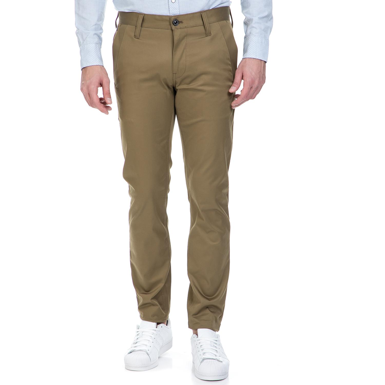 G-STAR RAW - Ανδρικό παντελόνι G-Star Raw BRONSON SLIM CHINO χακί ανδρικά ρούχα παντελόνια chinos