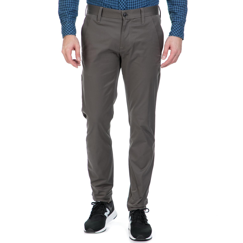 G-STAR RAW - Ανδρικό παντελόνι G-Star Raw BRONSON SLIM CHINO γκρι ανδρικά ρούχα παντελόνια chinos