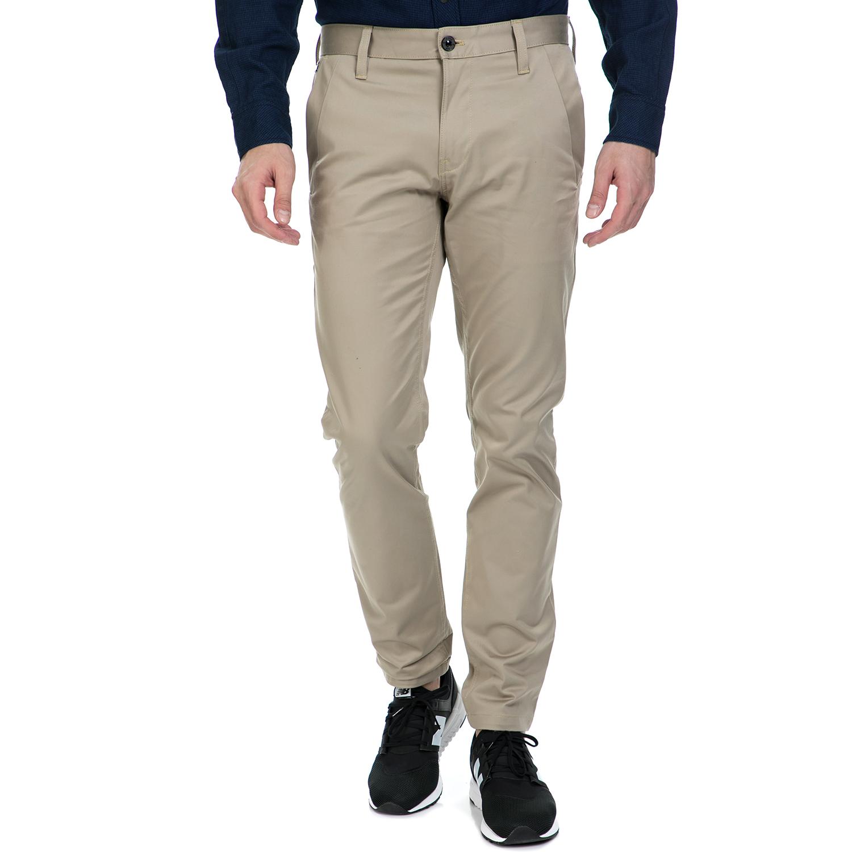 G-STAR RAW - Ανδρικό παντελόνι G-Star Raw Bronson slim chino μπεζ ανδρικά ρούχα παντελόνια chinos
