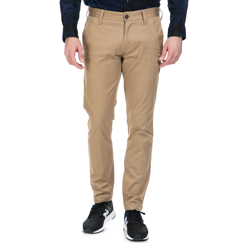 G-STAR RAW - Ανδρικό παντελόνι G-Star Raw BRONSON SLIM CHINO καφέ ανδρικά ρούχα παντελόνια chinos
