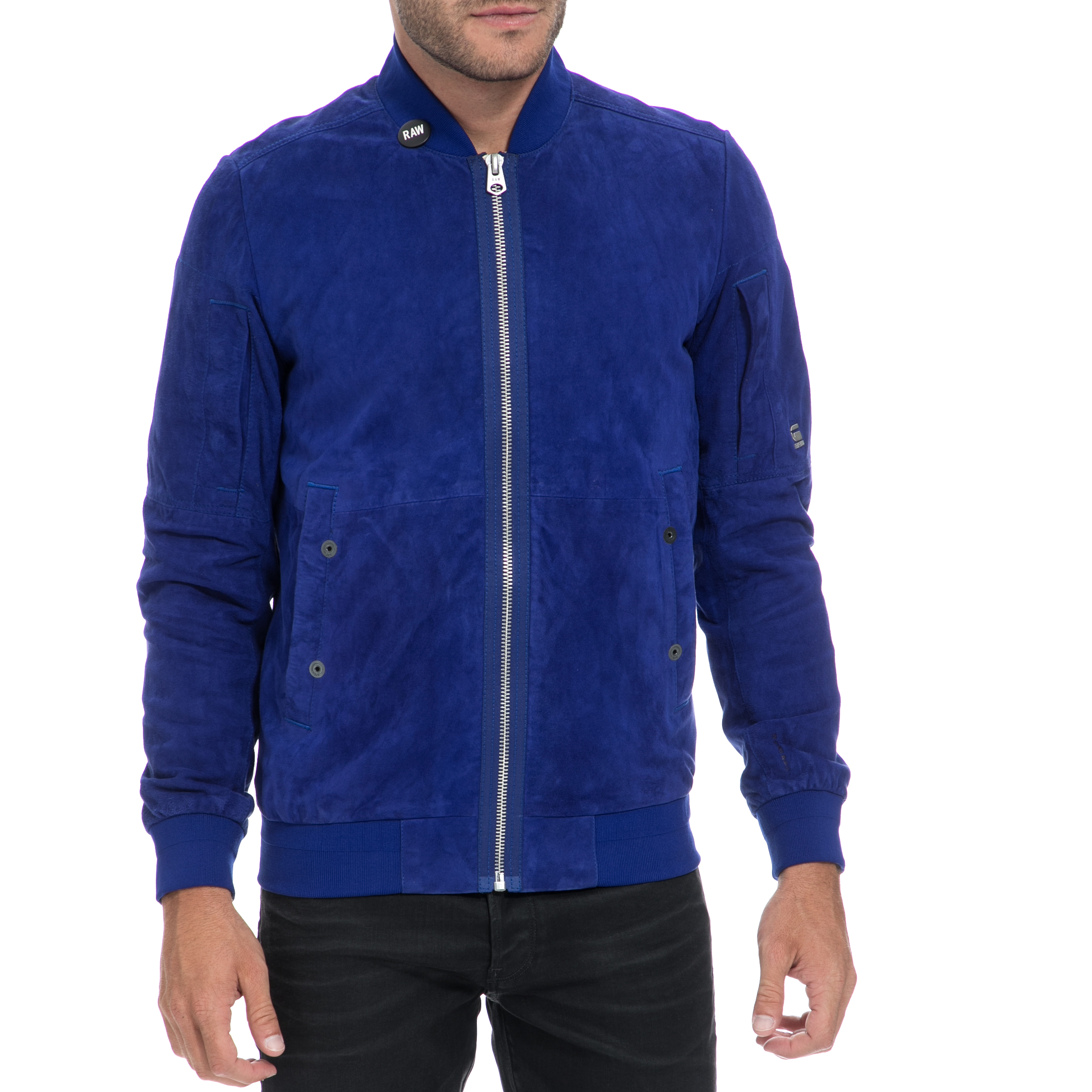 G-STAR RAW - Αντρικό τζάκετ G-STAR RAW μπλε ανδρικά ρούχα πανωφόρια τζάκετς