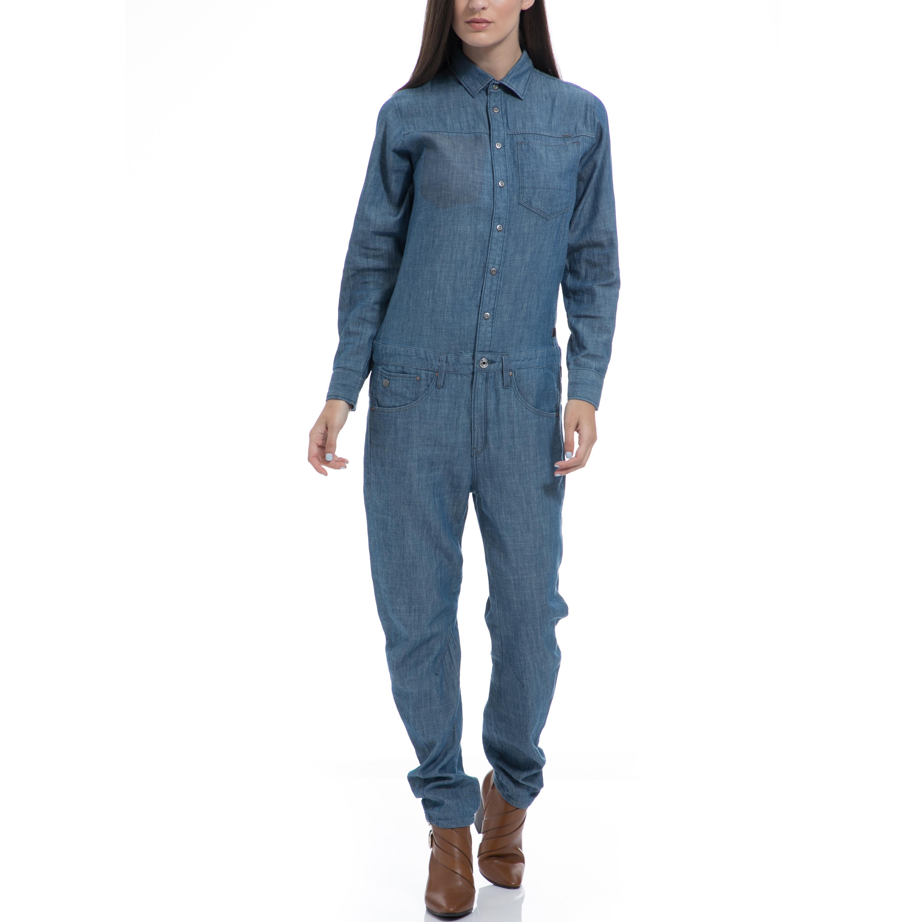 G-STAR RAW - Γυναικεία ολόσωμη φόρμα G-STAR RAW μπλε γυναικεία ρούχα ολόσωμες φόρμες
