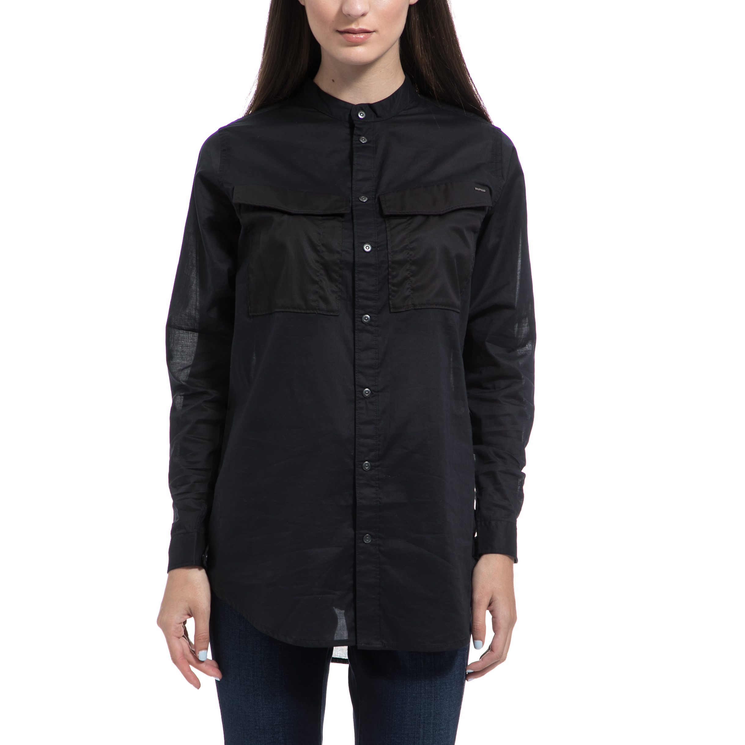 G-STAR RAW - Γυναικείο πουκάμισο G-STAR RAW μαύρο γυναικεία ρούχα πουκάμισα μακρυμάνικα