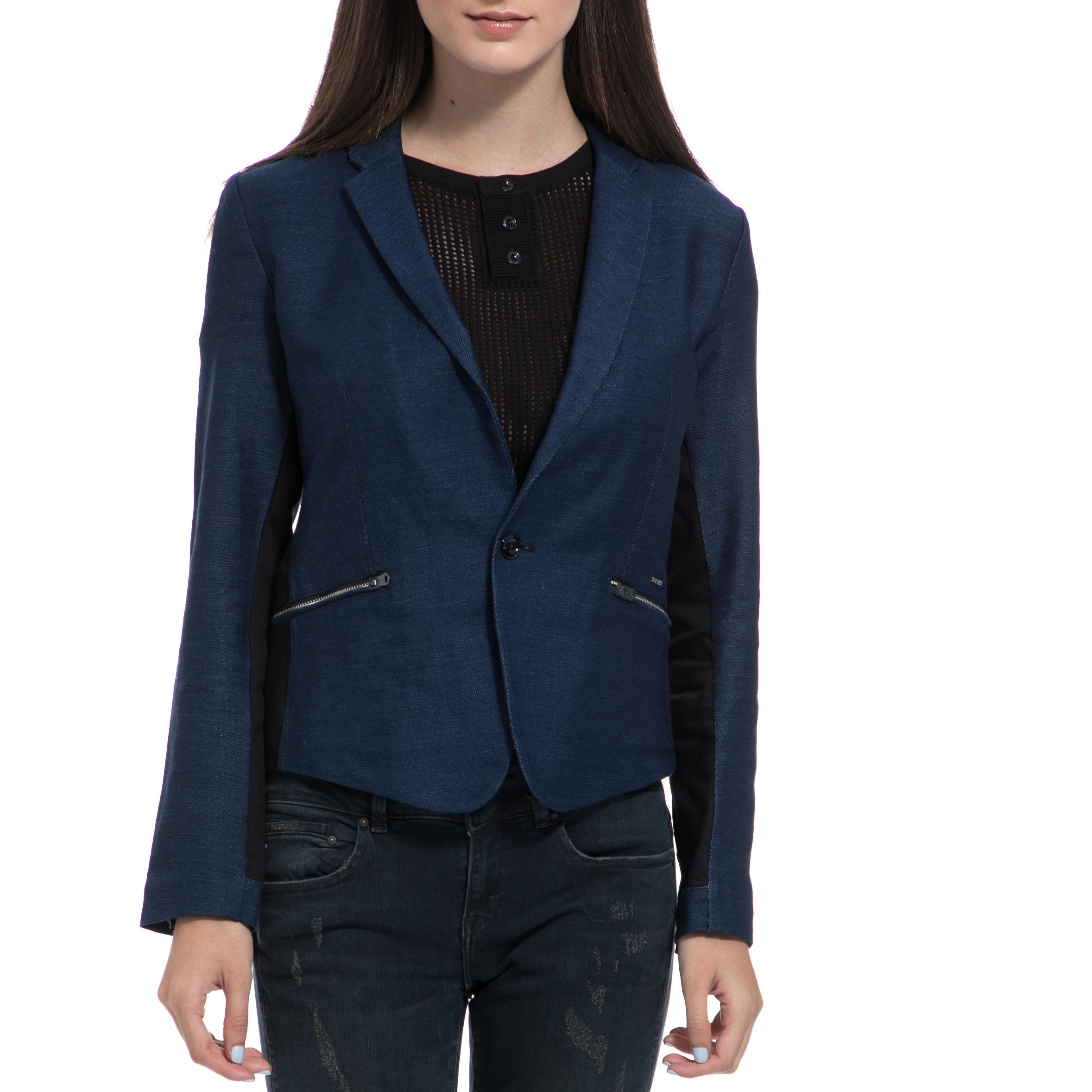 G-STAR RAW - Γυναικείο σακάκι G-STAR RAW μπλε γυναικεία ρούχα πανωφόρια σακάκια