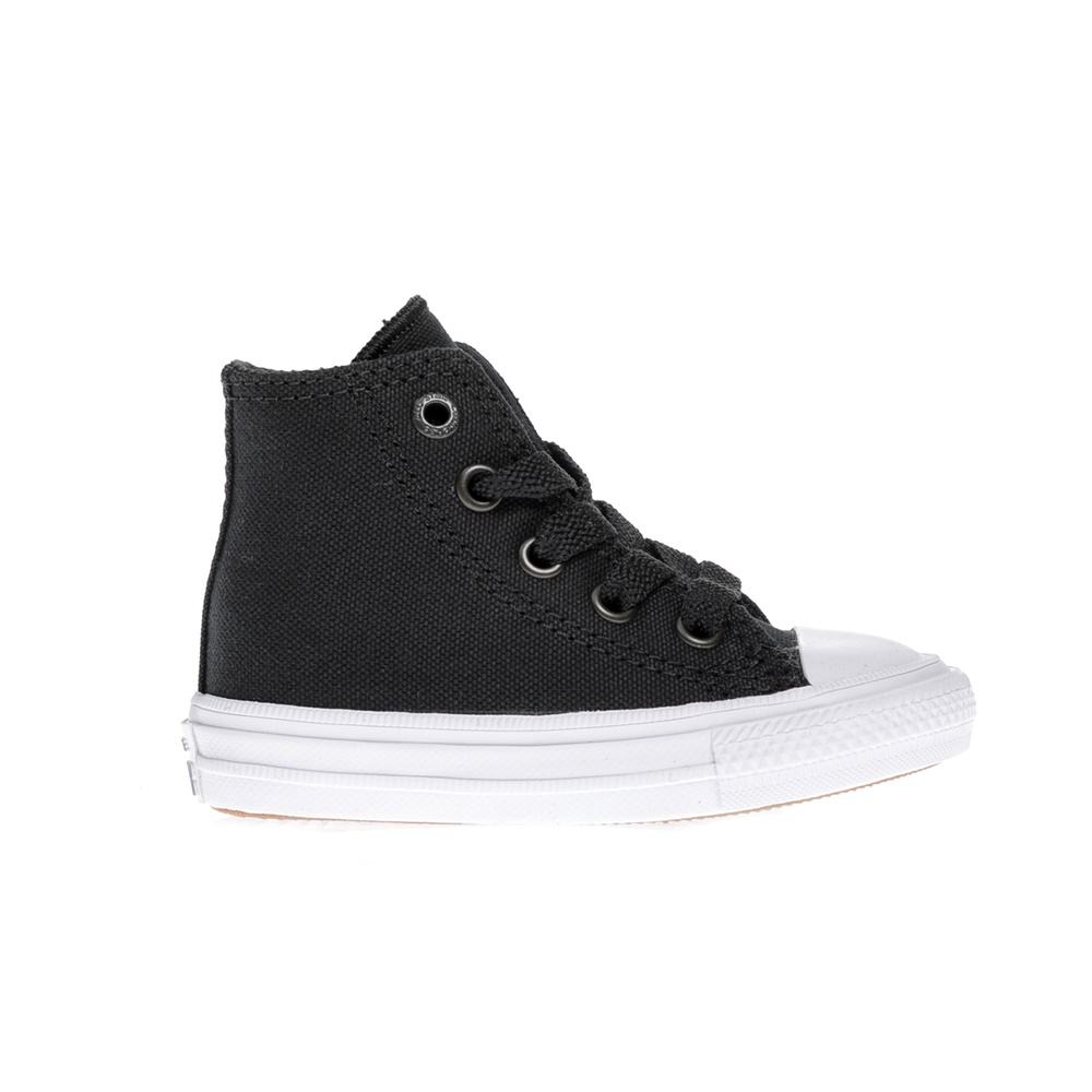 CONVERSE - Βρεφικά παπούτσια Chuck Taylor All Star II Hi μαύρα παιδικά baby παπούτσια sneakers