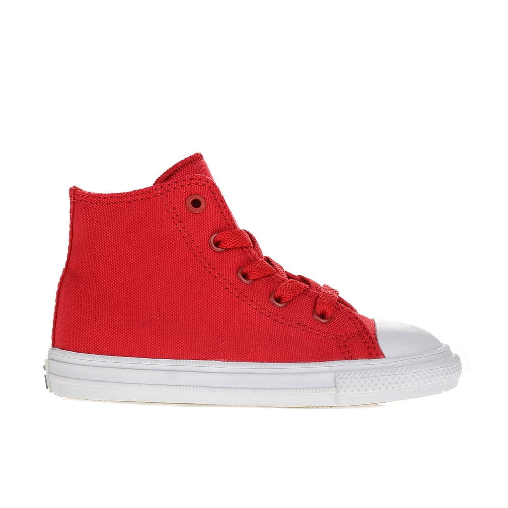 CONVERSE - Βρεφικά μποτάκια CONVERSE Chuck Taylor All Star II Hi κόκκινα παιδικά baby παπούτσια sneakers
