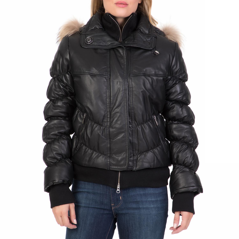 ARMA MAYS   ROSE – Γυναικείο δερμάτινο φουσκωτό μπουφάν ARMA MAYS   ROSE  μαύρο. Factory Outlet 2722f6a0fff