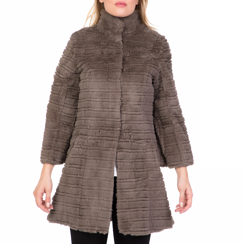 ARMA MAYS & ROSE - Γυναικείο παλτό ARMA MAYS & ROSE γκρι γυναικεία ρούχα πανωφόρια παλτό