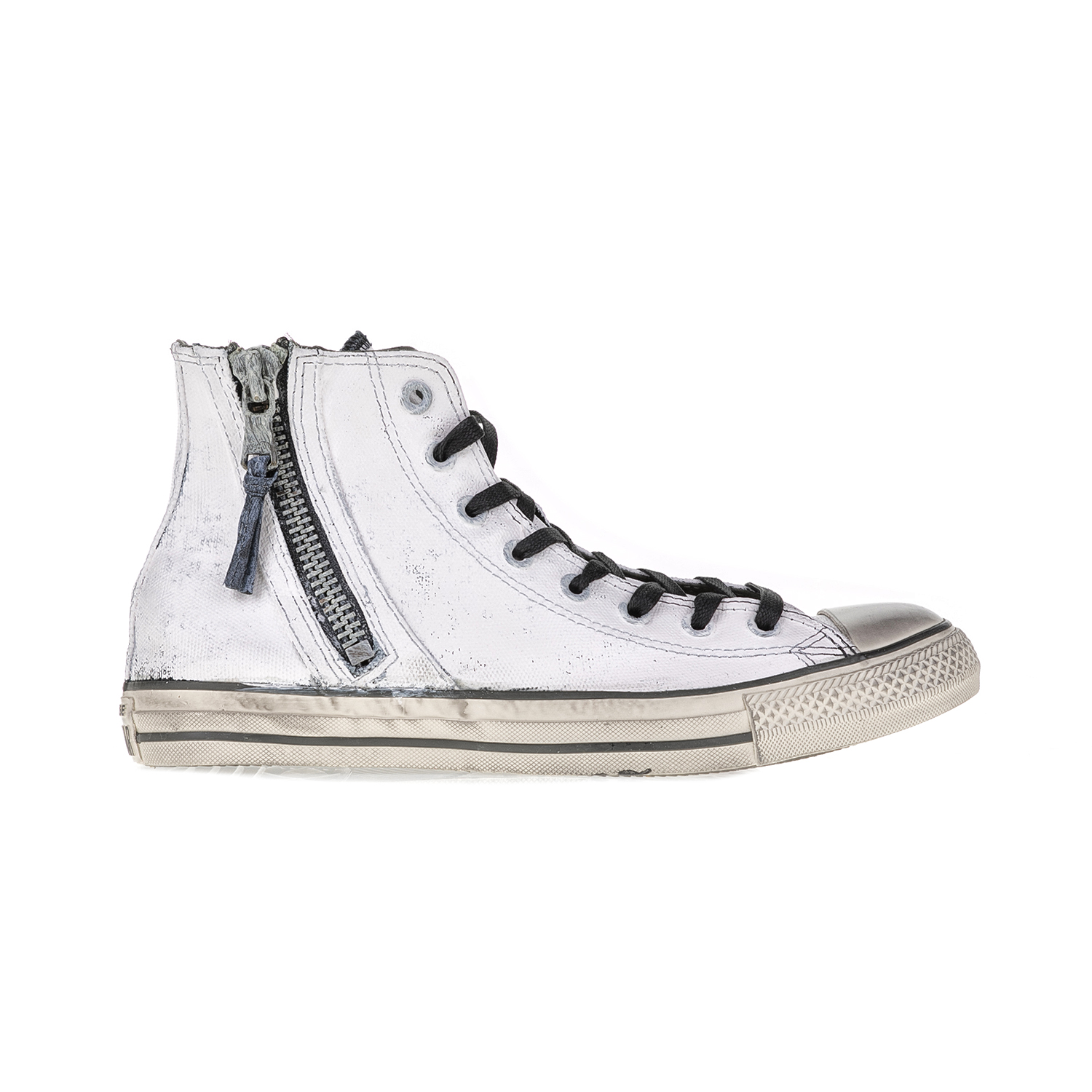 CONVERSE – Unisex αθλητικά μποτάκια Chuck Taylor All Star Side Zip λευκά-μαύρα