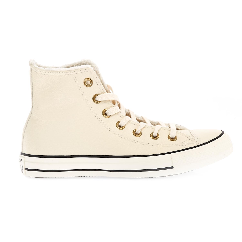 CONVERSE - Γυναικεία παπούτσιαChuck Taylor All Star Winter K μπεζ γυναικεία παπούτσια sneakers