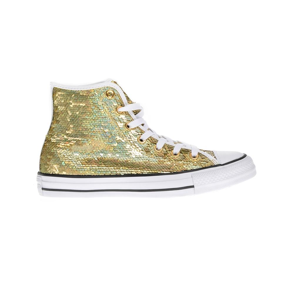 CONVERSE – Γυναικεία μποτάκια Chuck Taylor All Star Hi χρυσά