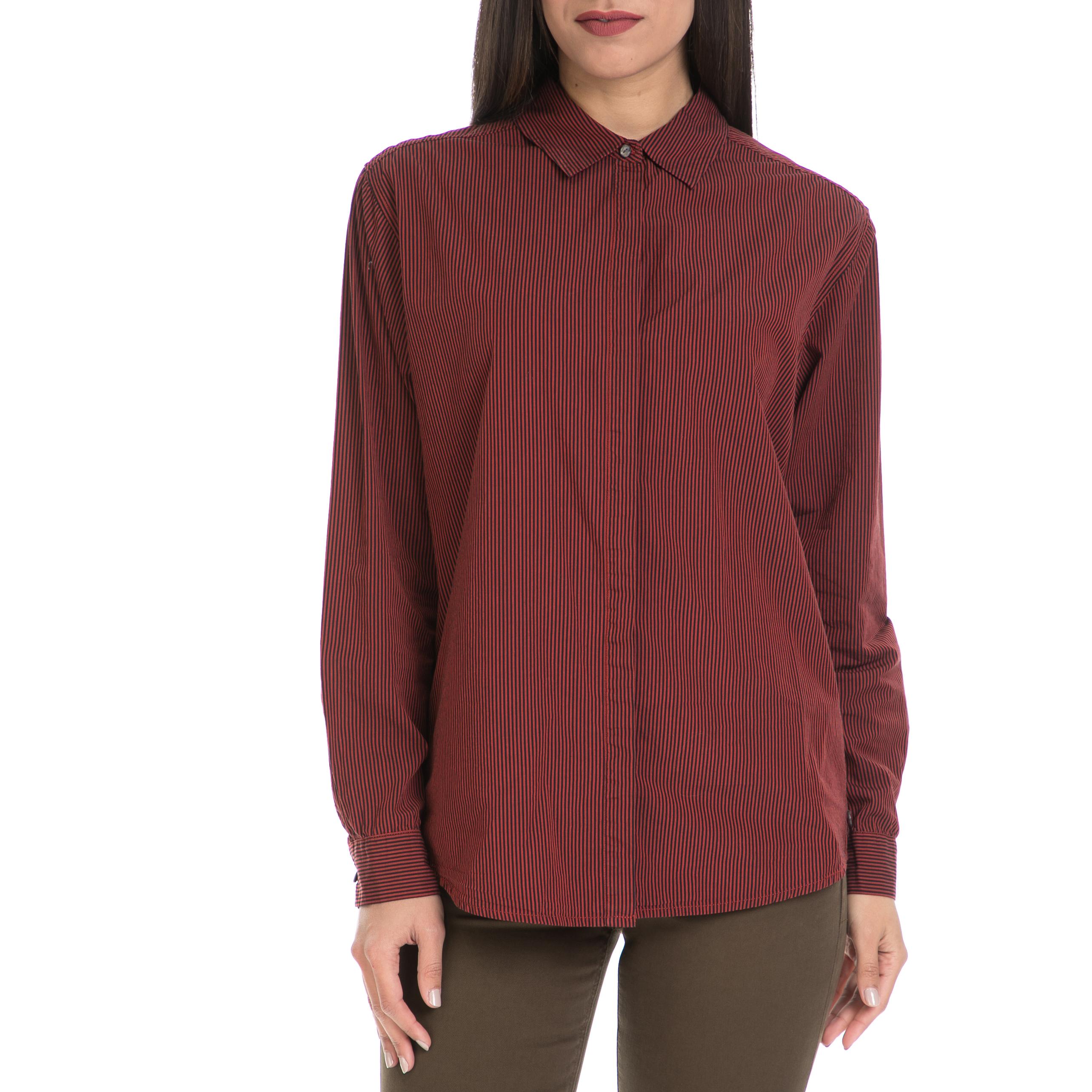 SCOTCH & SODA - Γυναικείο πουκάμισο MAISON SCOTCH μπορντό γυναικεία ρούχα πουκάμισα μακρυμάνικα