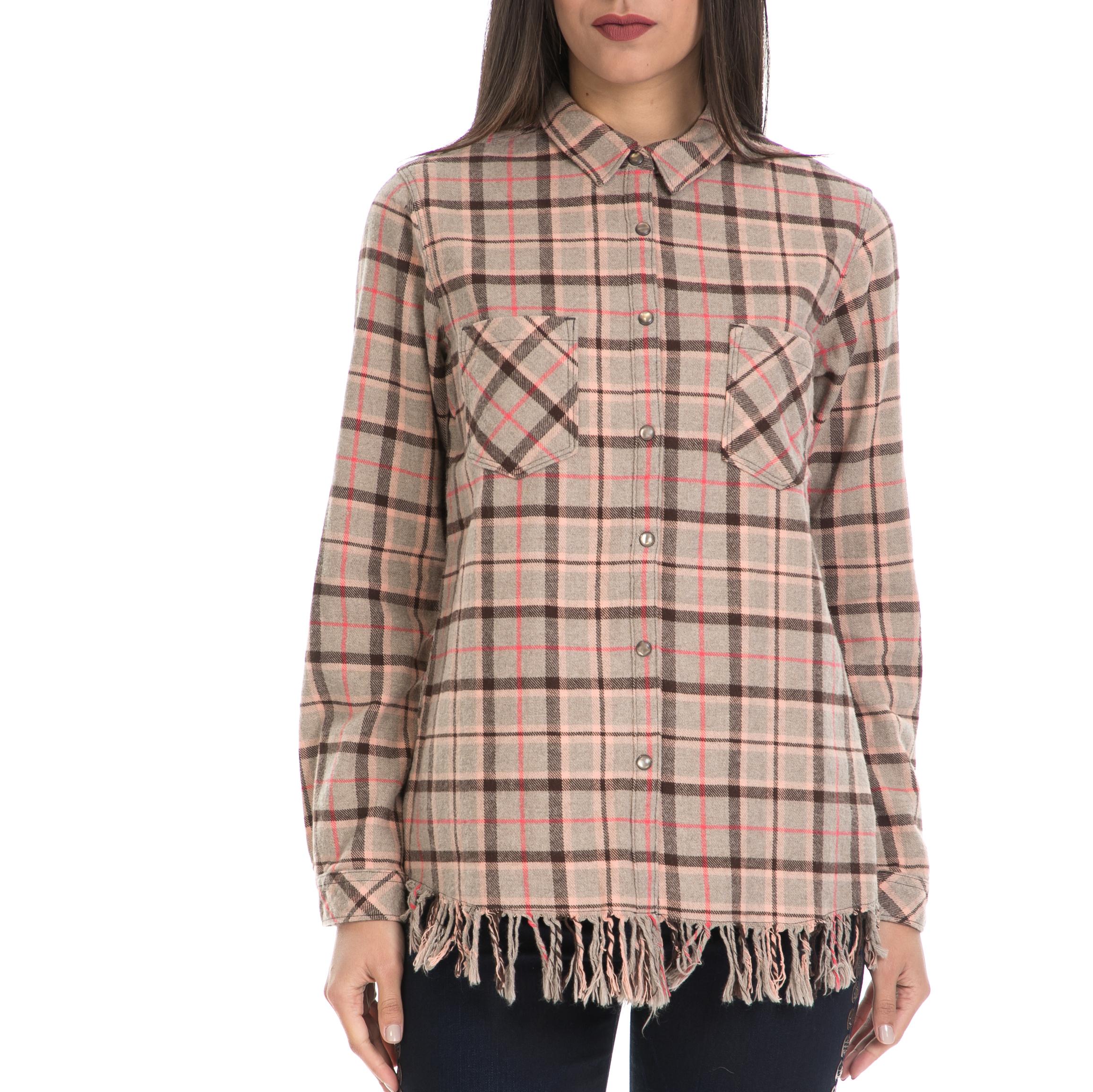 a2b427b6a8b2 SCOTCH   SODA - Γυναικείο πουκάμισο MAISON SCOTCH μπεζ-καφέ