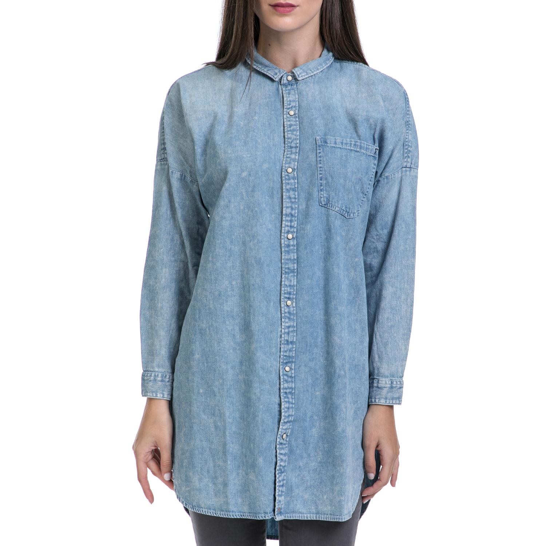 SCOTCH & SODA - Γυναικείο πουκάμισο MAISON SCOTCH μπλε γυναικεία ρούχα πουκάμισα μακρυμάνικα